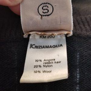 Krizia Maglia Sweaters - Krizia Maglia Vintage Angora Sweater w Silver Sz S